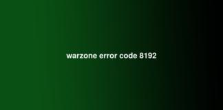 warzone error code 8192