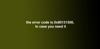 the error code is 0x80131500, in case you need it