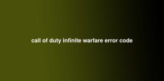 call of duty infinite warfare error code