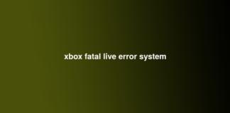 xbox fatal live error system