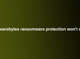 malwarebytes ransomware protection won't start