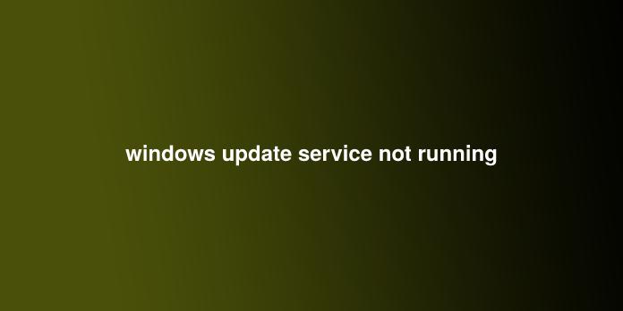 windows update service not running