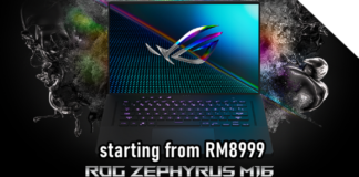 ASUS ROG Zephyrus M16 Malaysia release: up to 11th Gen Intel Core & GeForce RTX 3070 GPU, price starting from RM8999