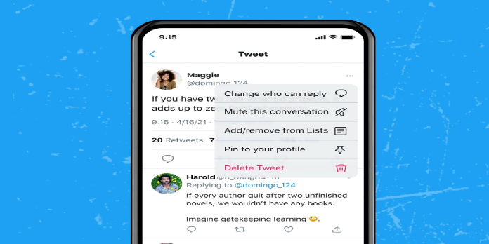 Twitter's new 'Change who can reply' feature allows users to select people that they don't want to reply on their tweets
