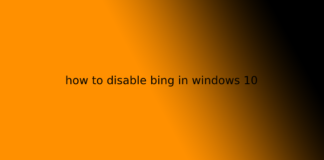 how to disable bing in windows 10