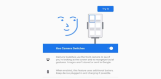 Android Camera Switches uses your face to control your phone