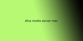 dlna media server mac