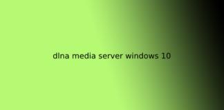 dlna media server windows 10