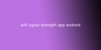 wifi signal strength app android