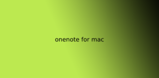 onenote for mac
