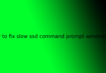 how to fix slow ssd command prompt windows 10
