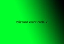 blizzard error code 2
