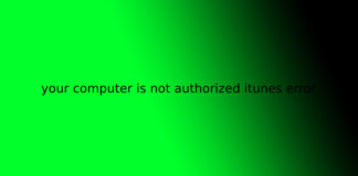 your computer is not authorized itunes error