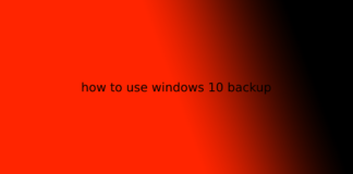 how to use windows 10 backup
