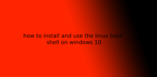 how to install and use the linux bash shell on windows 10