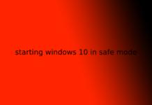 starting windows 10 in safe mode