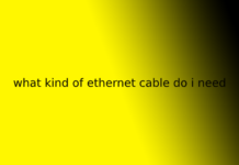 what kind of ethernet cable do i need