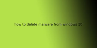 how to delete malware from windows 10