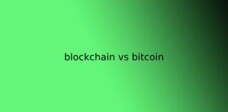 blockchain vs bitcoin