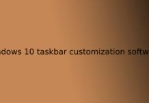 windows 10 taskbar customization software