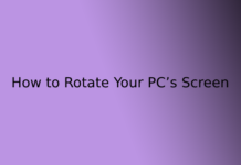 How to Rotate Your PC's Screen