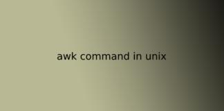 awk command in unix