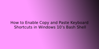 How to Enable Copy and Paste Keyboard Shortcuts in Windows 10's Bash Shell