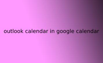 outlook calendar in google calendar