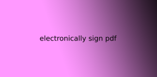 electronically sign pdf