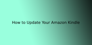 How to Update Your Amazon Kindle