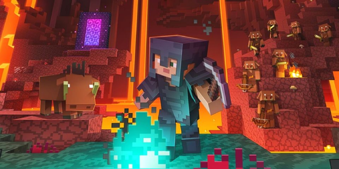 This Minecraft Nether Portal Optical Illusion Build Is Brilliant