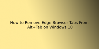 How to Remove Edge Browser Tabs From Alt+Tab on Windows 10