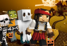 Minecraft Player Builds Glowing Jack-O-Tower For Halloween Decoration